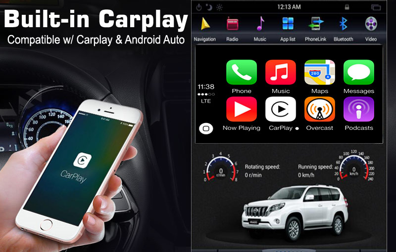 android vertical screen built-in carplay (android Auto)