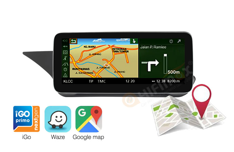GPS function of android screen multimedia navigation for Mercedes E W207/W212/C207/A207/S212(13-15,LHD)