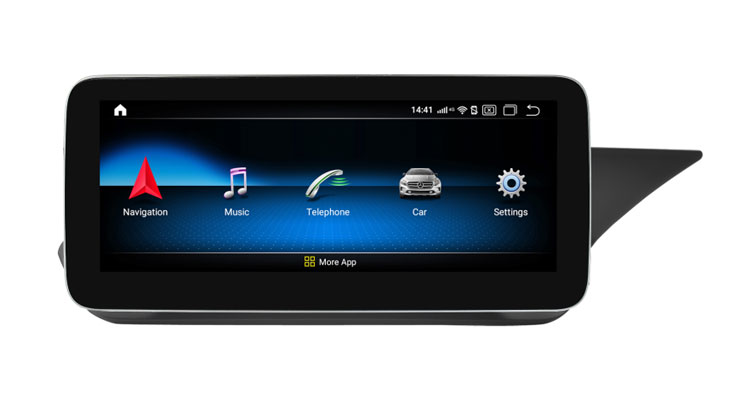 10.25'' GPS Navigation Mercedes Benz E C207 A207 W207 W212(11-13) with right hand drive bracket
