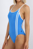Capri Tie Back 1pce - Cancun Blue