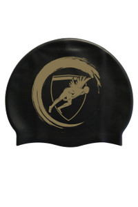 Black Wave Silicone Cap Gold Logo