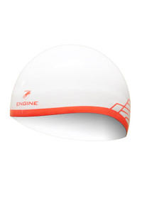Dome Cap - White/Orange