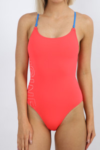 Brazilia Cross Back 1pce - Neon Cherry