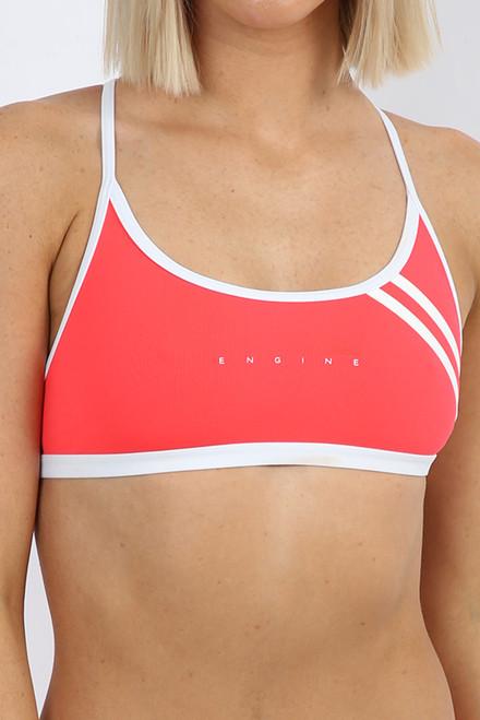 Capri Tie Back Top - Neon Cherry