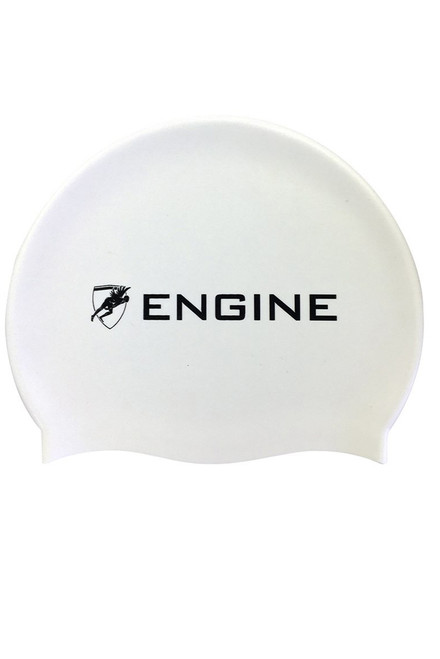 Solid Silicone Cap - White