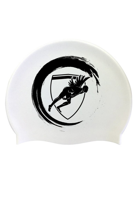 White Wave Silicone Cap Black Logo
