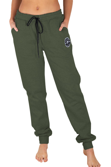 Army Green Track Pant - Medallion