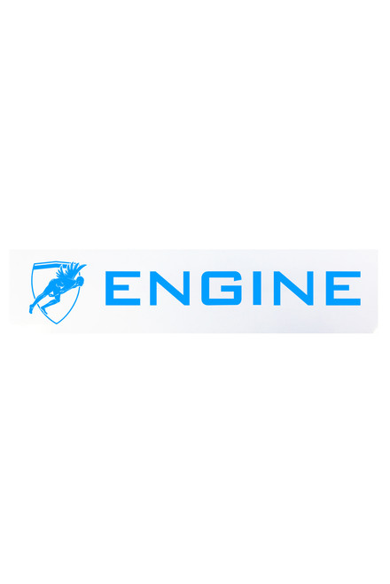 Engine Sticker  Blue