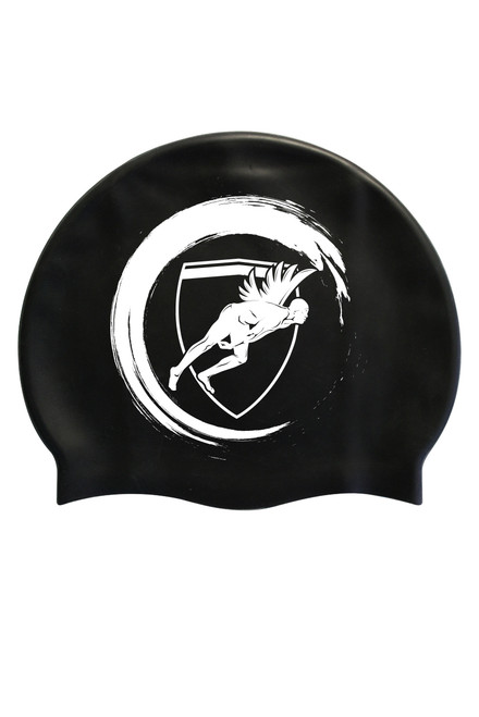 Black Wave Silicone Cap White Logo