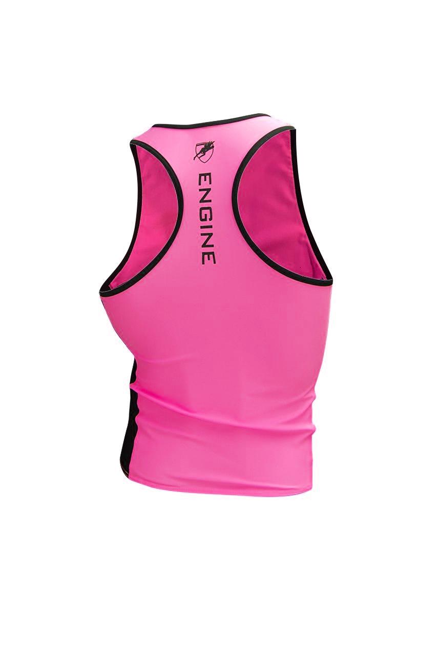 Pink Hi-Vis Splice Singlet Back