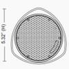 """5"""" Pendant Mount Speaker w/Chain EA"""