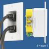 Tamper Resistant Discrete Décor Recessed Outlet (C-DDR1215WH)