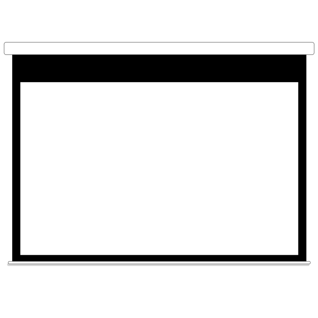White Motorized Projector Screen