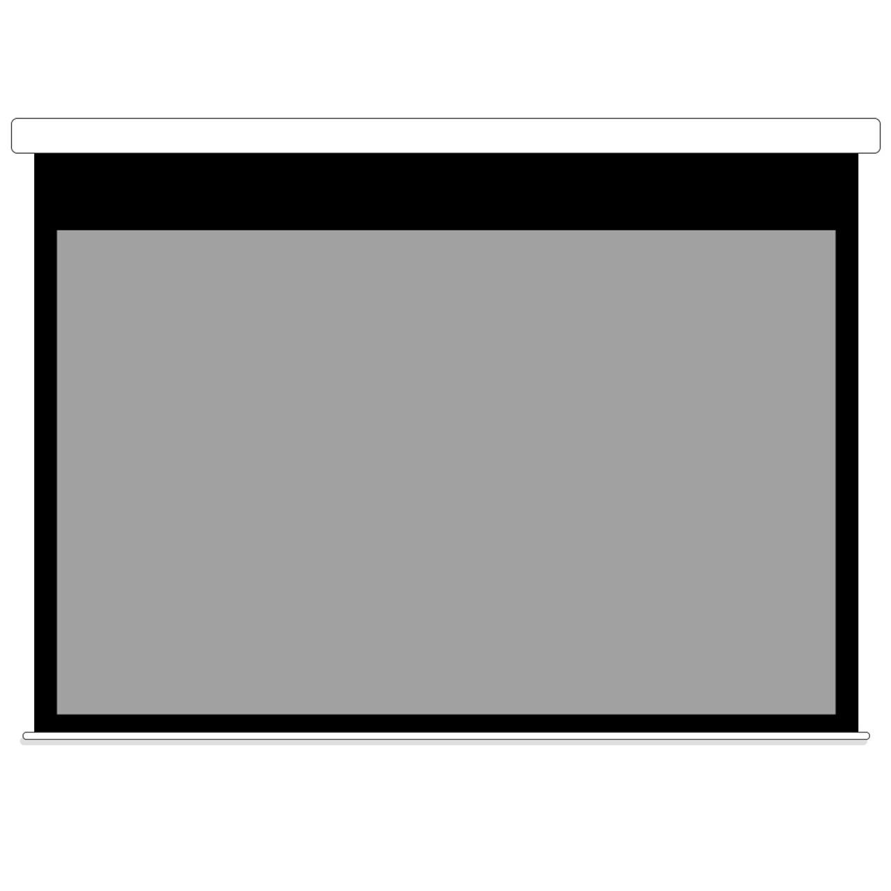 Grey Motorized Projector Screen