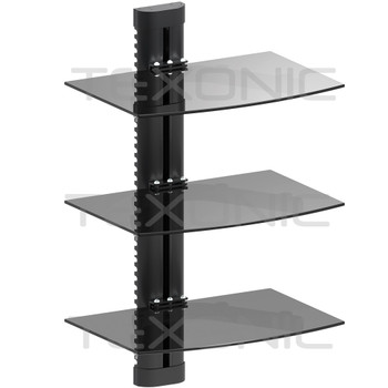 Electronic Component Glass  Wall Mount | 3 Tier