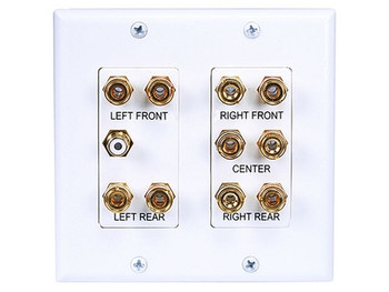 2-Gang 5.1 Surround Sound Wall Plate (S-4012)