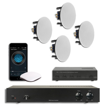 Whole House Multi room Music System with Ceiling Speakers