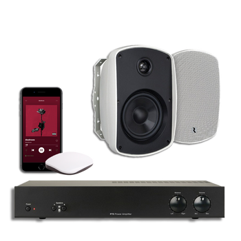 Audio player with music streaming |  outdoor Speakers package