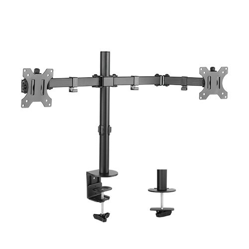 "Dual Monitor Desk Post Mount for 13"" - 27"" Screens up to 8kg (T-SX7)"