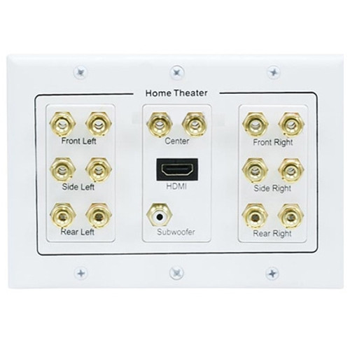 3-Gang 7.1 Surround Sound Wall Plate w/ HDMI® (S-6907)