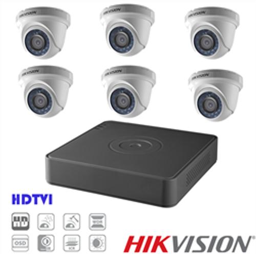 Hikvision TVI Security Camera Kit, 8 Channel DVR, 6 x 1080p Turret Cameras