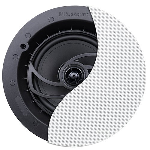 "6.5"" 2-Way Ceiling Speaker with Designer Edgeless Bezel Grille - Pair 