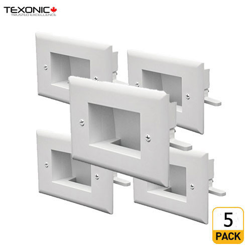 Recessed Cable  Pass-through  Wall Plate (5PCS) (C-WP10-5)
