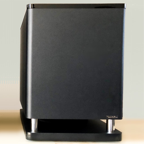"""12"""" 200 - Watts Powered Subwoofer with High Gloss Top - Black (A-E128)"""