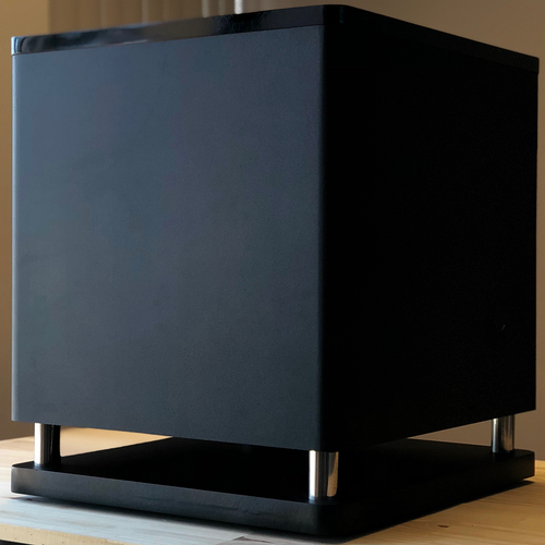 """15"""" 300 - Watts Powered Subwoofer with High Gloss Top - Black (A-E158)"""