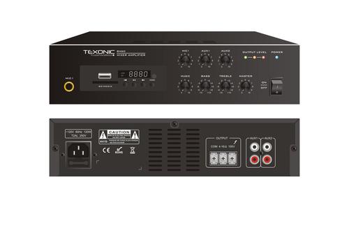 60 Watts Commercial Mixer Amplifier   Bluetooth MP3