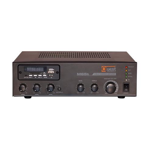 Quest 65w Mixer  Amplifier W/ Tuner USB (A-M65T)