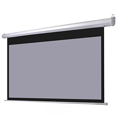 TEXONIC 16:9 Electric Matte Grey Motorized Projector Screen + Remote (P-GX)
