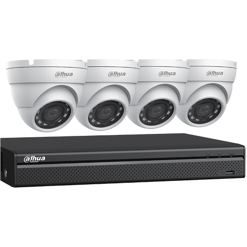 2MP 4CH DVR Bundle w/ 4 x 2MP Eyeball Cameras & 2TB HDD (V-C542E42)