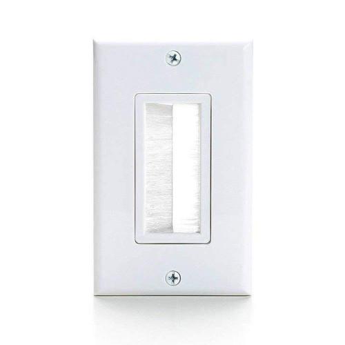 1 Gang Brush White Wall Plate - 5pcs (C-1126)