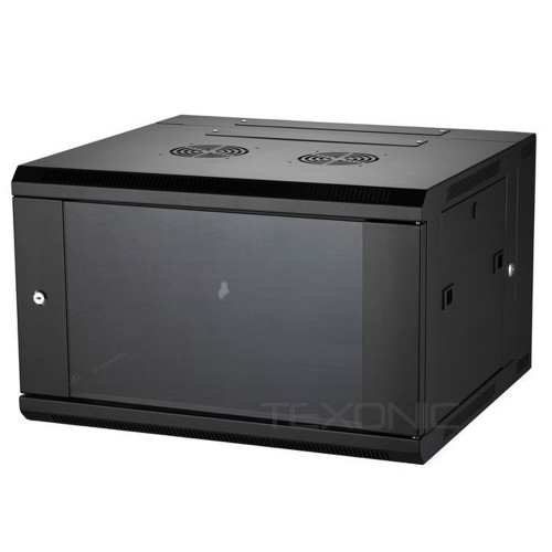6U Wall Mount AV and Network Server rack w/ Front Glass Door (T-QA6406)
