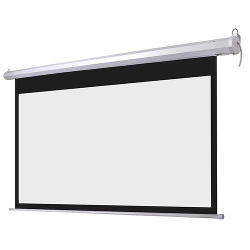 TEXONIC 16:9 Electric Fiber White Motorized Projector Screen + Remote (P-FX)