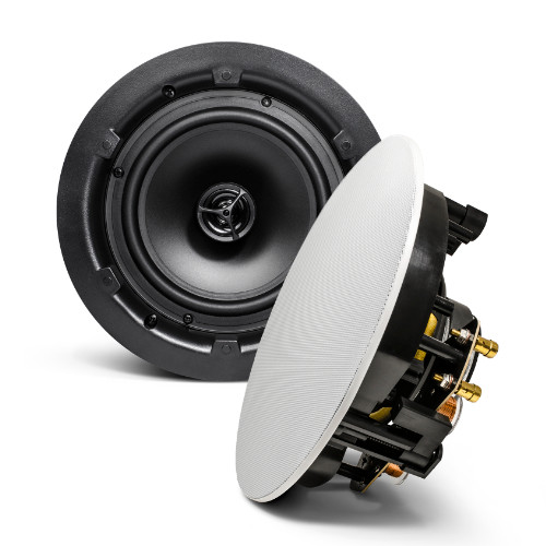 "SyncSound SS-ICS-8 2-Way 90 Watts 8 Ohms - Frameless 8"" In-Ceiling Speakers (pair)"