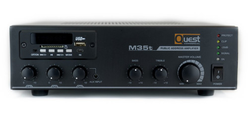 Quest 35w Mixer  Amplifier W/ Tuner USB (A-M35T)