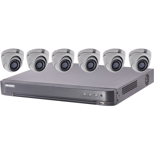 Hikvision 5 MP Value 6 x camera Express TurboHD Kits
