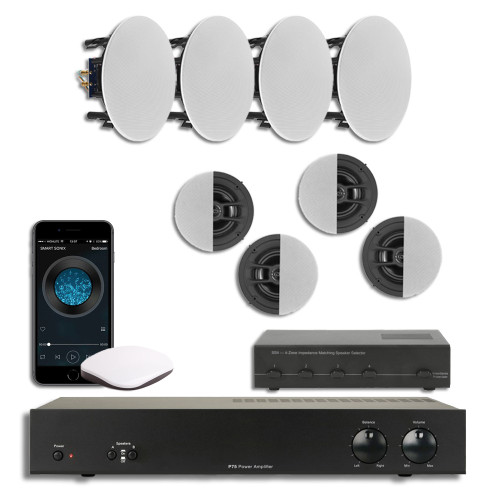 4 Zone Smart Audio | Speaker System | WiFi stream