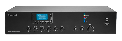 60 W 70V Mixer Amplifier with Media Player