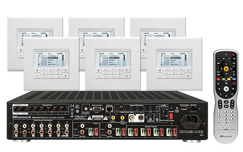 Russound Controller Amplifier System  with  six MDK-C6 Keypad | MCA66