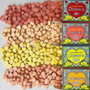 Pastillas Dorin's Frutal Hard Candy Heart Shaped Mixed Flavors 2 Strawberry, 1 Lemon, 1 Orange & 1 Tangerine. Corazoncitos, 25 g / 0.9 oz (box of 5) 125 gr. Argentina Select.