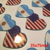 Sticker Calcomanía Resinada Corazón Argentino y Americano de 35mm. x 75mm. Argentina Select.