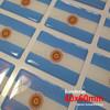 Sticker Calcomanía Resinada Bandera Argentina con Sol de 40mm. x 60mm. Argentina Select.