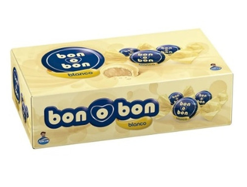 Bon o Bon White Chocolate Bite Filled With Peanut Butter from Argentina Box of 30 Bites, 450 g / 15.9 oz (Complete Box x 30)