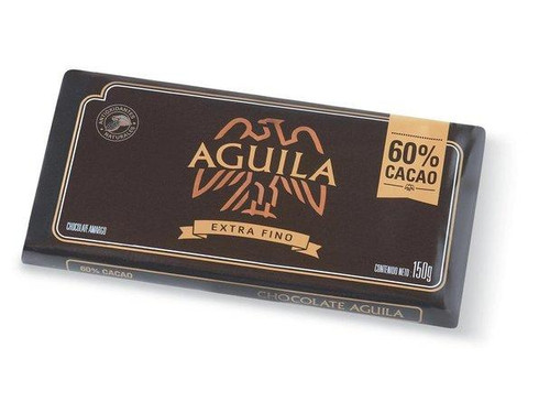 Águila Dark Chocolate 60% Cacao Bar Perfect with Hot Milk Submarino/Remo, 150 g / 5.3 oz bar