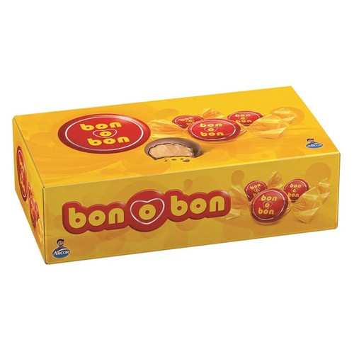 Bon o Bon Traditional Chocolate Bite Filled With Peanut Butter from Argentina Box of 30 Bites, 450 g / 15.9 oz (complete box caja entera)