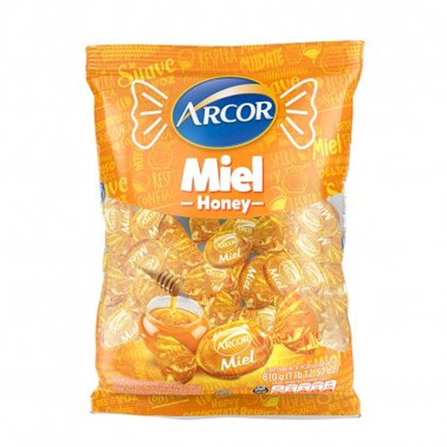 Caramelos Arcor Miel Hard Candies Honey Flavoured Gluten Free, 810 g / 28.5 oz. Argentina Select.