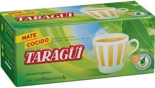 Taragüi Mate Cocido - Ready to Brew Yerba Mate Bags (box of 25 bags). ArgentinaSelect.com